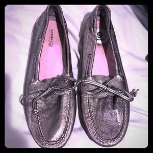 Sperry metallic loafers